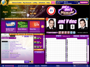 Gala bingo ant and dec game